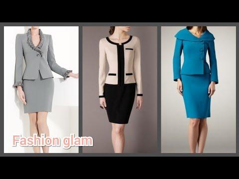 Latest Styles Of Bodycon Dresses Design/office Work Women's Dresses