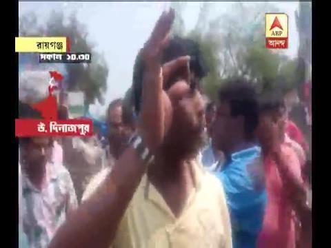 Municipal Election: Firing outside booth no 7 at Raiganj