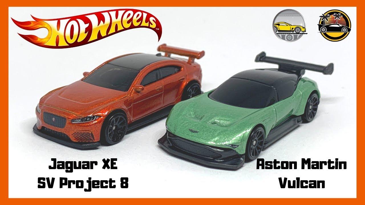 Hot Wheels Aston Martin Vulcan Jaguar Xe Sv Project 8 Youtube