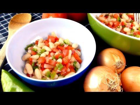 Ensalada de judías blancas(ALUBIA BLANCA) con vinagreta para ensaladas