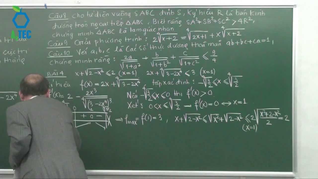 Trình tự giải một đề thi đại học môn Toán(Full) – PGS.TS Nguyễn Vũ Lương-www.chuyentonghop.edu.vn