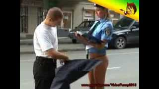 Naked and Funny. Cop without a skirt
