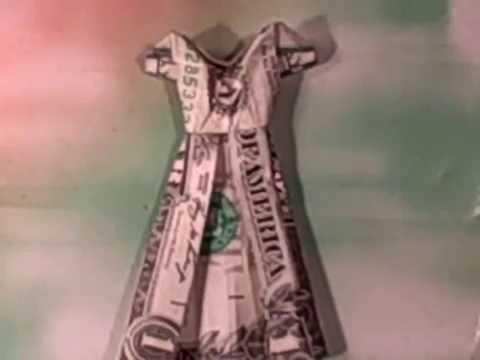 Origami Dollar Dress Three Youtube