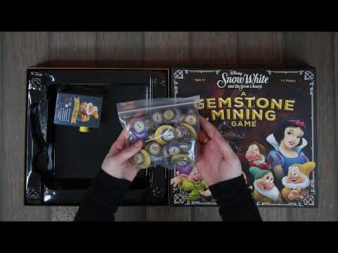 Snow White And The Seven Dwarfs: A Gemstone Mining Game Unboxing