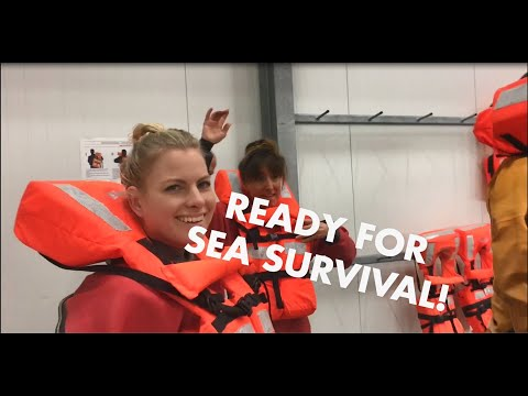 Safety first! Sea survival training for Lindy and Babette