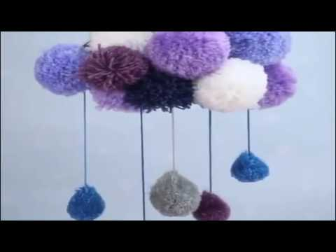 DIY Pom Pom Rain Cloud for Home Decoration