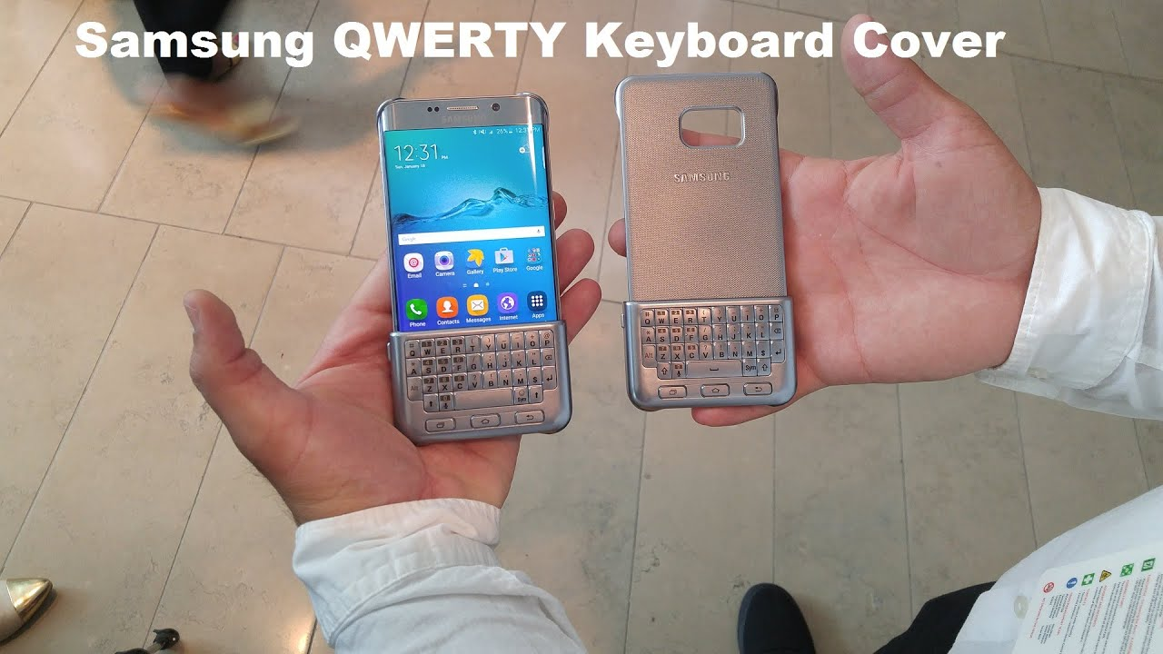 Samsung QWERTY Keyboard Cover hands-on [S6 Edge+, Note 5, S6 & S6 Edge]