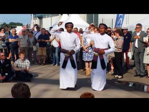 Crew of the Shabab Oman II performing at Kotka Maritime Festival - Tall Ships Kotka