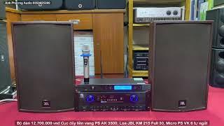 Bộ dàn Karaoke Gia đình Giá  Rẻ Loa JBL Full 30 - Đẩy Liền Vang - Micro Không dây -12tr7