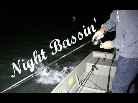 How To Bass Fish At Night!