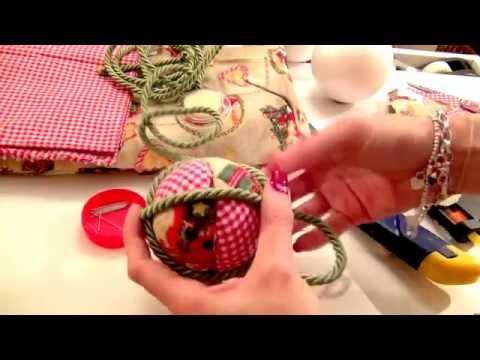 Palline patchwork per Natale
