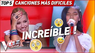 With these VERY HARD songs they surprised at La Voz Kids