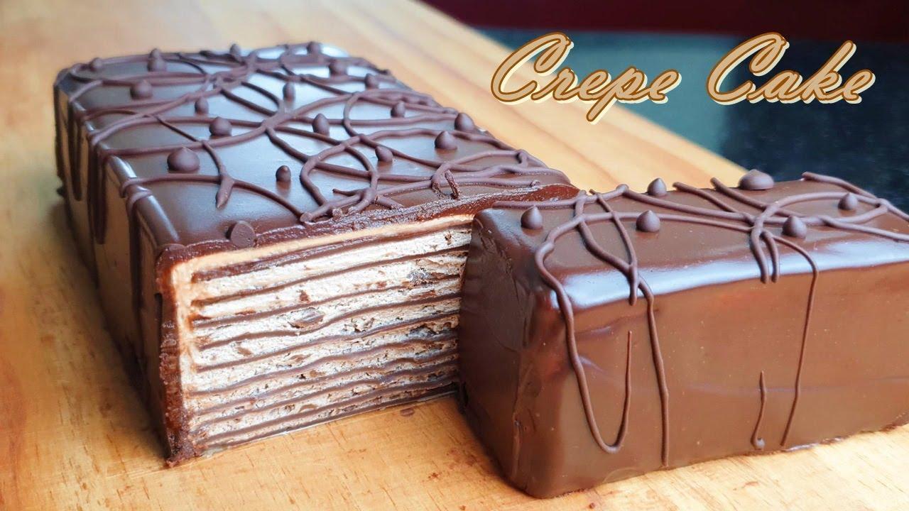No-Bake/ 컵계량 /  초코 크레이프 케이크 만들기 / Special Chocolate Crepe Cake Recipe  / No-Gelatin / क्रेप चॉकलेट