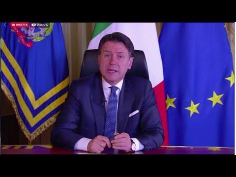 Coronavirus, Conte: 'Chiuse le attività in tutta Italia. Garantiti trasporti e servizi essenziali'
