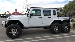 This 6-Wheeled Jeep Wrangler Is the Craziest Jeep Ever