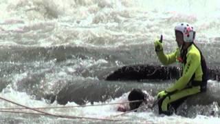 TSBL★川で女性が救助された様子★上越市・関川