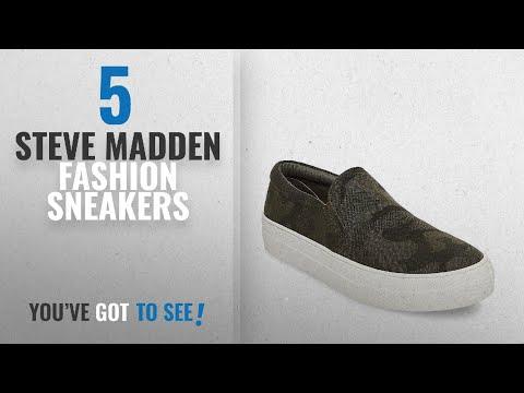 Top 5 Steve Madden Fashion Sneakers [2018]: Steve Madden Women's Gills Sneaker, Camouflage, 9.5 M