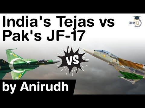 India's Tejas Fighter Jet vs Pakistan's JF 17 - Facts about LCA Tejas & JF 17 explained #UPSC #IAS