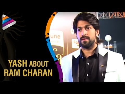 Ram Charan is a Wonderful Dancer says Kannada Actor Yash | IIFA Utsavam Awards 2016 | Green Carpet