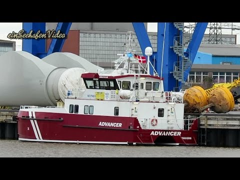offshore crew boat ADVANCER OWMI2 IMO 9686429 Emden