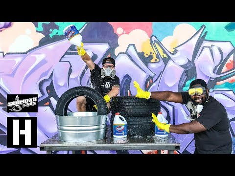 Tire Science! Does A Bleach Bath Make Bigger Burnouts? We Find Out With Sh*tcar