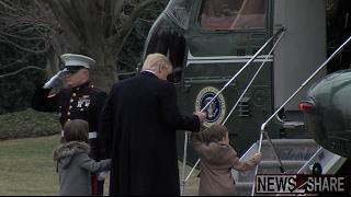 Trump Boards, Flies Away in Helicopter