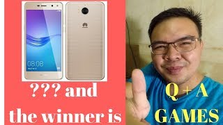 Huawei y5 Announcerment of Winner + Q and A + Mini Games!!