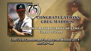 2014 BBWAA Hall of Fame Electee Greg Maddux