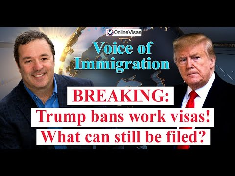 BREAKING: Trump OFFICIALLY Bans H-1B Visa And 3 Other Non-Immigrant Visas! What Visas Can Be Filed?