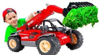 #Машинки Трактор Погрузчик #BRUDER для мальчиков Мультик про машинки от Будинок Іграшок