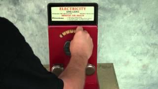 Advance Machine Co Electricity Shock Machine 1c Coin Op Penny Arcade Shocker.MTS