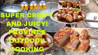 OUTDOOR COOKING  CRISPY PORK  PISNGI NG BABOY  SIMPLIEST INGREDIENTS  PINOY STYLE