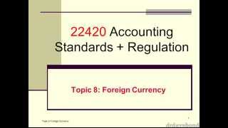 Accounting for Foreign Currency 2014a (1/5)