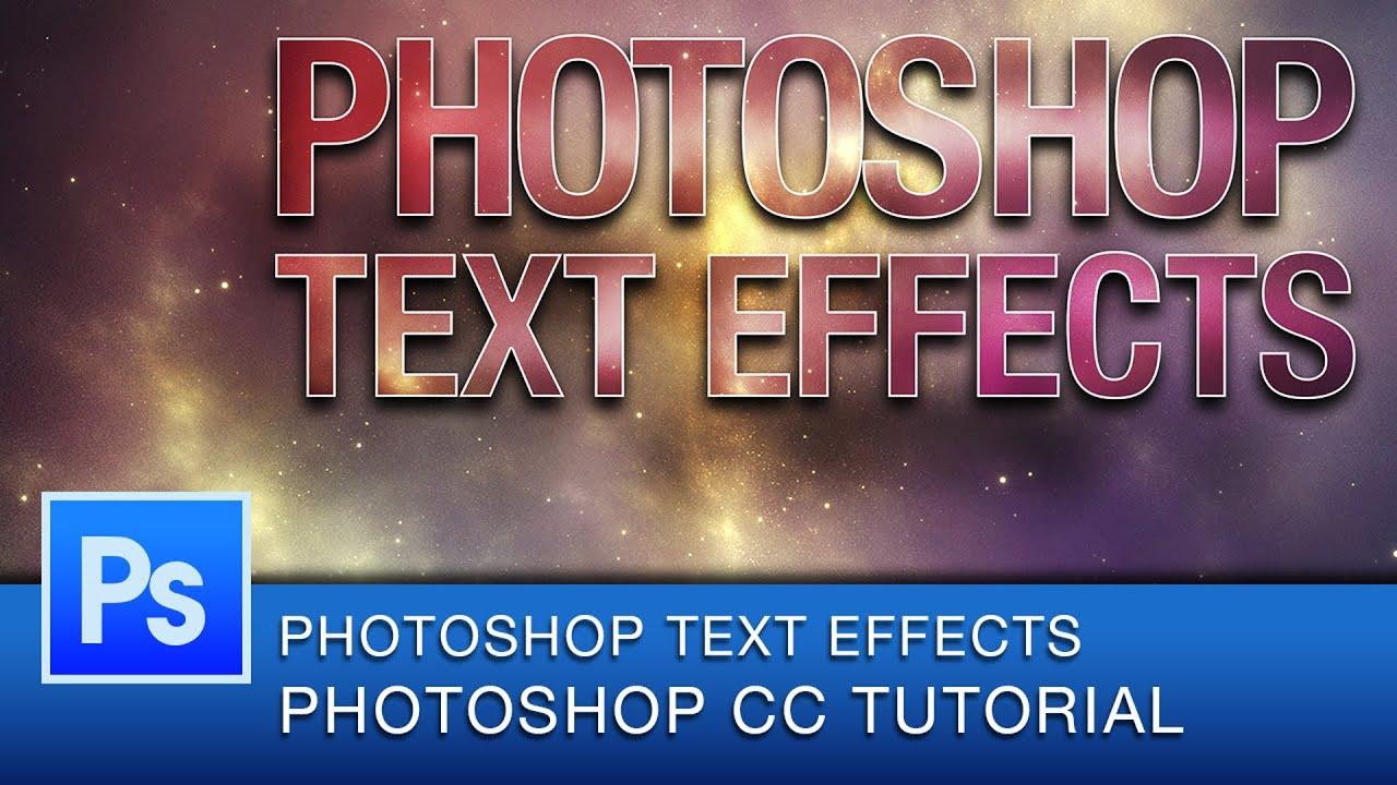 Photoshop Text Effects Tutorials 2013 Photoshop Text ...