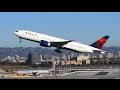 Delta Air Lines Boeing 777-200LR Takeoff LAX