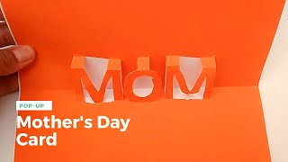Pop up card for Mothers day (MOM) - Easy