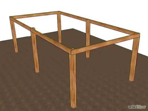 Diy garden wood bench how to build a shed part 6 how to for Wood pole barn plans free