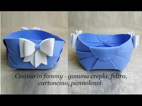 Trash can  container  easy in fommy crepla or rubber, felt, cardboard, DIY ideas
