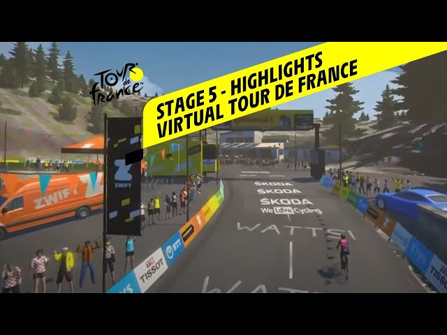 Virtual Tour de France 2020 - Stage 5 - Highlights