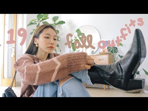 (sub) 19 FALL OUTFIT IDEAS 가을을 위한 19가지 데일리룩 모음집 (머리부터 발끝까지 룩북!) | kinda cool thumbnail