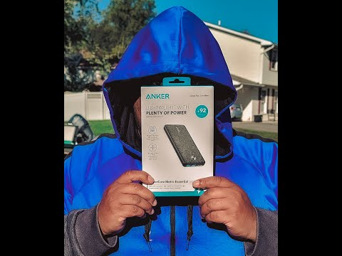 Anker - PowerCore Metro 20,000 mAh Portable Charger unboxing & impression #Anker
