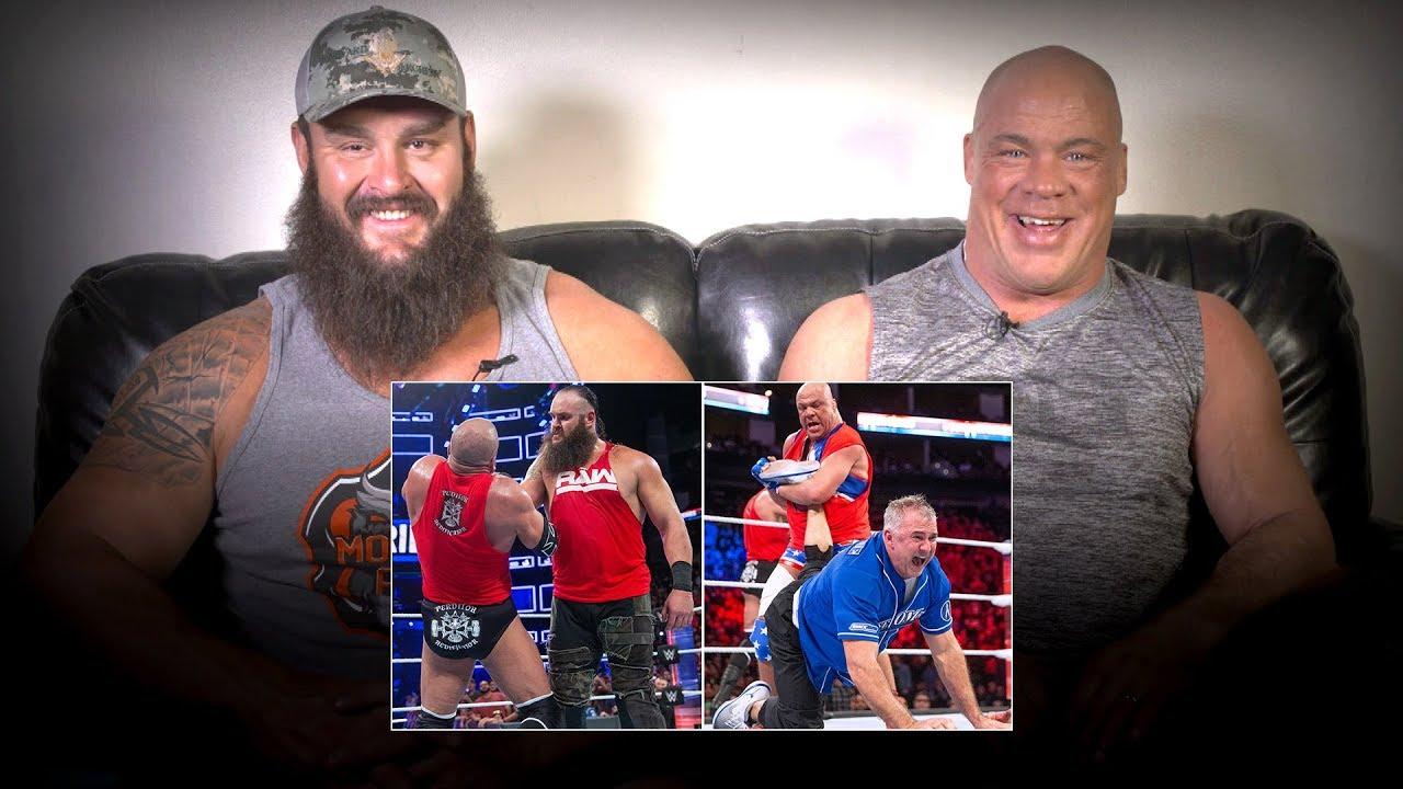 Kurt Angle & Braun Strowman rewatch 2017's Raw vs. SmackDown Survivor Series battle: WWE Pl
