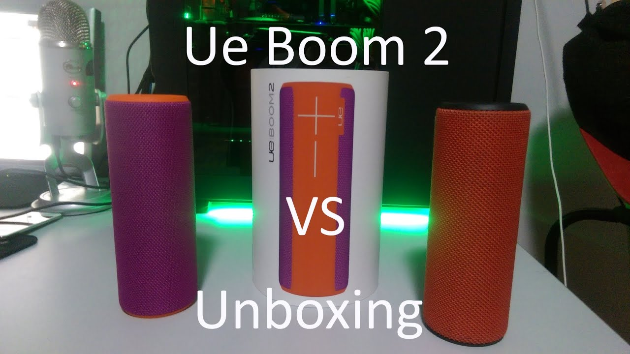 Ue Boom 2 Unboxing Also A Ue Boom 1 And 2 Sound Test Youtube
