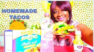 HOMEMADE TACOS MMGOODIE MUKBANG 먹방 eating show! + AFFIRMATIONS