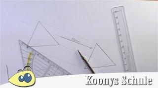 Parallelverschiebung mit Lineal und Geodreieck | Dreieck verschieben