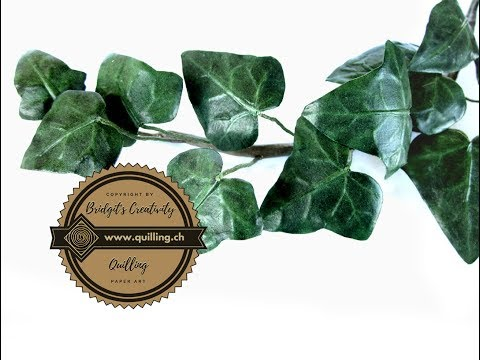 Ivy paper leaves (part 6) tutorial
