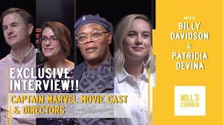 INTERVIEW EXCLUSIVE CAPTAIN MARVEL W/ BRIE LARSON, SAMUEL L JACKSON, RYAN FLECK & ANNA BODEN!