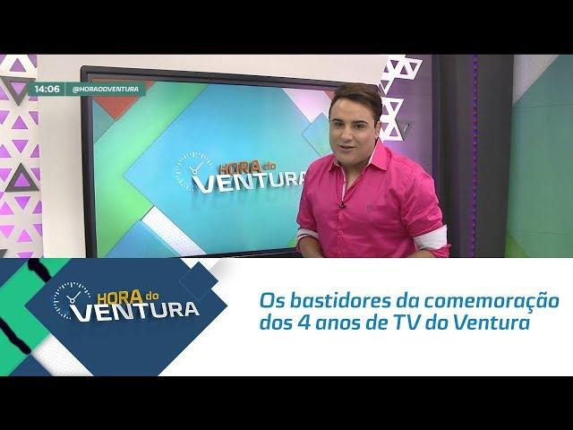 Os bastidores da comemoração dos 4 anos de TV de Bruno Ventura - Bloco 01