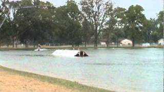 wakeboarding big air wipeout