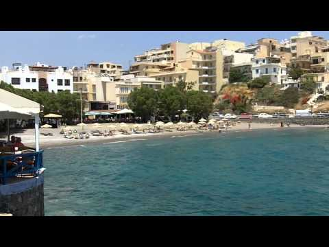 Agios Nikolaos, Crete - sea front, beach and marina